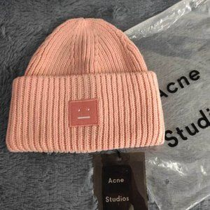 ☀Acne Studios Pansy Beanie Pink